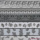 3D Lady Black Lace Design Nail Art Stickers Decals For Nail Tips Decoration Tool