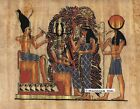 """Egyptian Papyrus Painting - Thot & the tree of pens 8X12"""" + Hand Painted #76"""