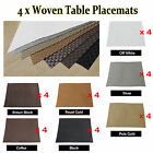 Set of 4 - Gorgeous Woven PVC Placemats 30x40cm TAUPE SILVER BROWN GOLD COFFEE