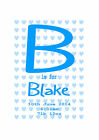 NEW BABY GIFT PERSONALISED PRINT BIRTH DETAILS NAME DATE TIME WEIGHT BOY GIRL