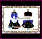Sailor Moon Cosplay Costume High Quality White Black Moon Leather Dress Hot Sell