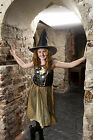 Gold Star Witch fancy dress up BNWT 5-10yrs Halloween Girls Costume Hat F&F