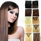 20 22 Inch Clip-In Real Remy Human Hair Extensions 100g 8PCs Full Head 10 Colors