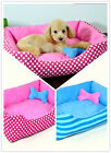 Dog Cat Pets Bed Soft pp Cotton Puppy House Waterproof Pets Bed 2 Sizes ZHC034