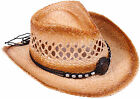 Men's Women's Assorted Crocheted Straw Cowboy Hat Woven Costume Hat Cap