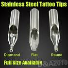 304L Pick U Size Stainless Steel Tattoo Machine Nozzle Tips RT DT FT 1PC Sale