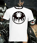 Kiss Logo Retro T Shirt Ringer Tee Music Rock Indie Brit Pop Punk All Sizes New