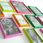 Wall AND Standing Photo Picture frames, colourful selection fun Plastic