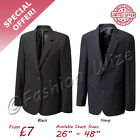 "School Uniform Boys Mens Girls Ladies Blazer Jacket Navy Black Badgeable 26""-48"""