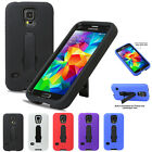 Heavy Duty Dual Layer Protective Armure Kickstand Case For Samsung Galaxy S5