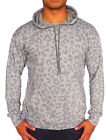 NEW MENS HOODIE JUMPER LEOPARD PATTERN ANIMAL PRINT GYM CASUAL RETRO FESTIVAL