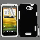 White Hybrid Silicone Case Cover For HTC ONE X + Screen Protector Stylus Pen