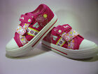 Girls Peppa Pig Pink Summer Time Twin Velcro Canvas Pump Sizes 6,7,8,9,10