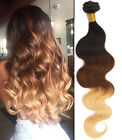 "12""-30"" Ombre 100%  Brazilian Virgin Unprocessed Human Hair BODY WAVE 50g/pc hot"