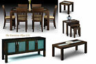 Santiago Wenge Finish Dining Set 4 6 Chairs Sideboard Lamp Coffee Table