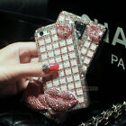 Luxury 3D Full Bling  Pearl Plastic Case Cover For iphone Samsung LG Sony Etc.