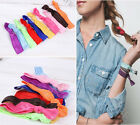 10 Pcs Hair Head Bands Elastics Silk Ties Scrunchies Accessories Sale