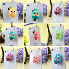 Lovely Owl Sharped Ear Phone Plug Anti Dust Stopper Cap Set - iPhone/Samsung