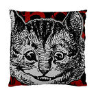 Alice In Wonderland Grunge Cheshire Cat (Red Version) Two Sided Cushion Cover