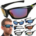 X-Loop Wrap Sunglasses Mens Sport Cycling Fishing Golfing Glasses w/ Mirror Lens