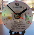 Personalised Birthday Gift CD Clock 18th 21st 30th 40th 50th 60th 65th 70th