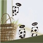 3 Pandas/Set Black Cartoon Wall Stickers  Wall Paper Decals Switch Stickers