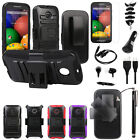 8pc Accessory For Motorola Moto E Clip Holster Hybrid Stand Case+LCD+Car Charger