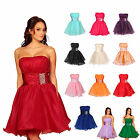 Short Layered Beaded Strapless Bubble Cocktail Prom Party Dress UK size 8 to 20