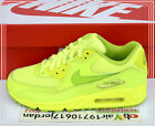 2014 DS Nike Air Max 90 GS Volt Green 307793-700 US 4~6Y Girls Youth Running