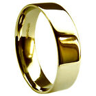 8mm 18ct 750 Yellow 13.9g Gold UK HM Heavy Flat Court Comfort Wedding Band Ring