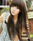 New Fashion Womens Ladies Long Straight Hair Full Wigs Cosplay Party Black Brown