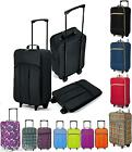 Foldable Hand Luggage on Wheels Ryanair Wheeled Travel Holdall Cabin Bag Trolley