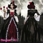 Vampire Queen Medieval Renaissance Dracula Halloween Gown Fancy Dress Costume