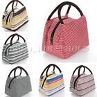Stripe Thermal Travel Picnic Lunch Tote Waterproof Insulated Cooler Carry Bag