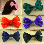 2x Girls Ribbon Ponytail Hair Bow Alligator Crocodile Clip Barrettes Accessory