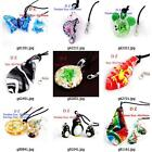 g814p44 Fashion Animal Lampwork Glass Murano Bead Pendant Necklace Earrings set