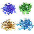 Glass Vase Fillers, Gem Stone, Flat Marbles, Multi-colored, 5 bags (1-lb/bag)