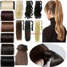 UK Seller Wrap On Piece Claw Clip In Ponytail Hair Extensions Human Made New ltd