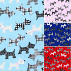 Printed Polyester Cotton - Scottie Dogs