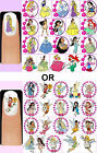 60x DISNEY PRINCESSES or FAIRIES Nail Art Decals + Free Gems Princess Cinderella