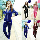 2014 Womens Casual Tracksuits Hoodies Sports Suits Tops Pants Jacket Sweater