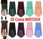 25 Colors Sexy Women Girl Chiffon Asym Dress Skirt Pleated Retro Elastic Waist