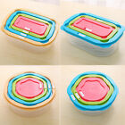 Food Kitchen Plastic Storage Container Lunch Bento Box Seal Crisper Three Piece