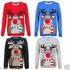 NEW LADIES MENS XMAS NOVELTY WOMENS RETRO VINTAGE 7O'S CHRISTMAS JUMPER SWAETER