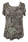 New Ladies Brown Paisley Print Bow Back Tunic Top Plus Sizes 16 - 26