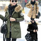 New Warm Womens Winter Hooded Fleece Faux Fur Jacket Outerwear Coat Parka