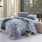 4-Piece Comforter Cover Sets Printed Floral Duvet Cover Sets with Bed Sheets