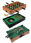 Tabletop Desktop Wooden Football Soccer Game / Pool Table Billiards/ Roulette