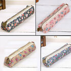 Classic Pencil Pen Case Makeup Tool Bag Storage Zipper Pouch Purse Stationery