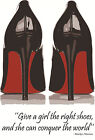 Christian Louboutin Marilyn Monroe Shoes Quote Art Print/Poster Fashion Beauty
